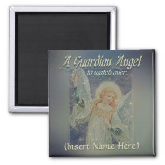 Add Name Guardian Angel Magnet