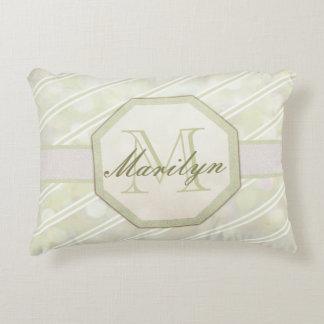 Add Name | Monogram | Stripe Decorative Cushion