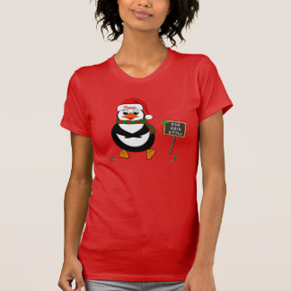 Add Name To Dancing Christmas Penguin T-Shirt