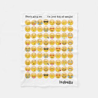 Add Name to Personalized Emoji Print Blanket