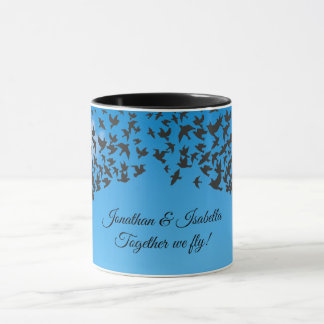 Add names | birds in flight | together we fly mug