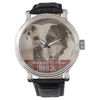 Add Pet Photo Custom Dog Picture Pet Memorial Watch