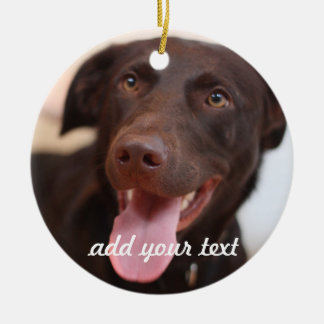 Add pet photos & text to Christmas Tree Ornament
