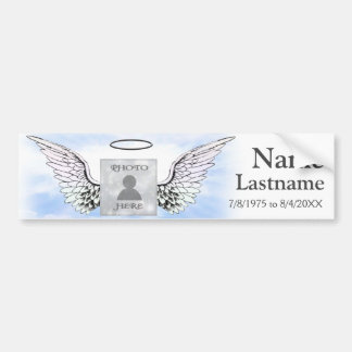 Add Photo and Name | Memorial Bumper Sticker