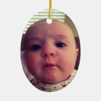 Add Photo Baby Girl Christmas Tree Ornament