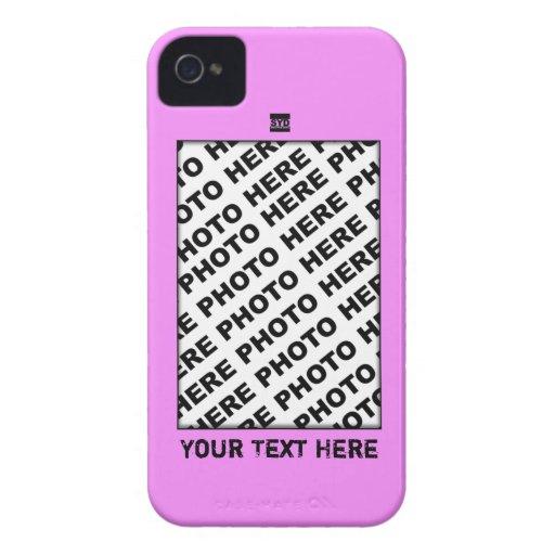 Add Photo Pink Blackberry Bold Case