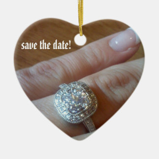 Add Photo Save the date Christmas Ornament
