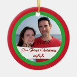 Add Photo & Year To Our First Christmas Ornament