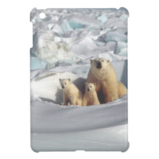 Add SLOGAN to Save Arctic Polar Bears Planet Ice iPad Mini Cover