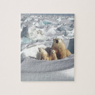 Add SLOGAN to Save Arctic Polar Bears Planet Ice Jigsaw Puzzle