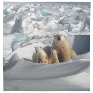 Add SLOGAN to Save Arctic Polar Bears Planet Ice Napkin