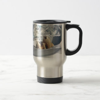 Add SLOGAN to Save Arctic Polar Bears Planet Ice Travel Mug