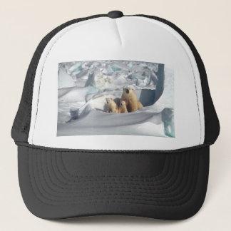Add SLOGAN to Save Arctic Polar Bears Planet Ice Trucker Hat