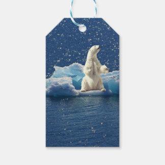 Add SLOGAN to Save Polar Bears Arctic Planet Ice Gift Tags