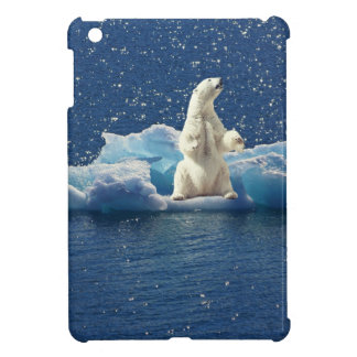 Add SLOGAN to Save Polar Bears Arctic Planet Ice iPad Mini Cover