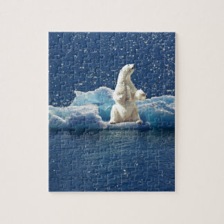 Add SLOGAN to Save Polar Bears Arctic Planet Ice Jigsaw Puzzle