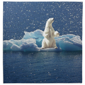 Add SLOGAN to Save Polar Bears Arctic Planet Ice Napkin