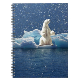 Add SLOGAN to Save Polar Bears Arctic Planet Ice Notebook