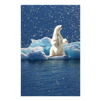 Add SLOGAN to Save Polar Bears Arctic Planet Ice Stationery