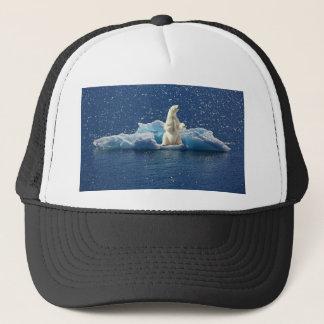 Add SLOGAN to Save Polar Bears Arctic Planet Ice Trucker Hat