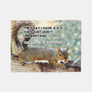 ADD Squirrel Photo Fleece Blanket