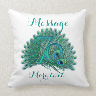 Add text 70th Anniversary Pillow