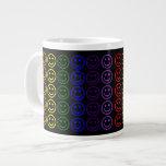 Add Text & Images Gifts: Rainbow Smiley Faces Jumbo Mug