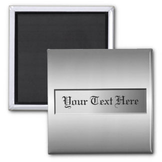 Add Text Metal Plate Magnet