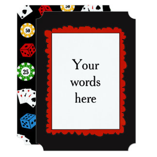 Add Words any purpose Casino Party Invitation