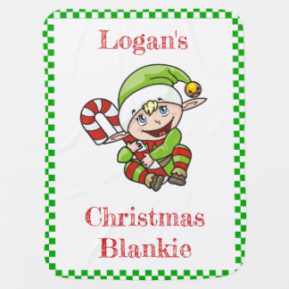 [Add Your Baby's Name] Elf Christmas Blankie Baby Blanket