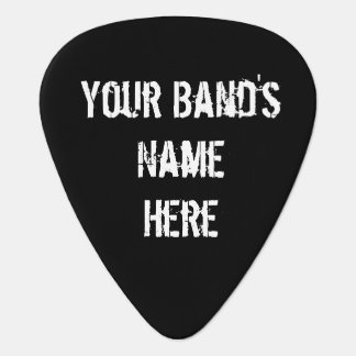 Add your Band's Name to this Black Skull Pick Plectrum
