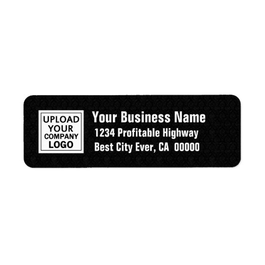 Add Your Business Logo Black and White Return Address Label