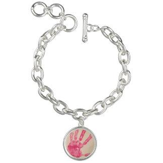 Add your child's hand print to a charm bracelet charm bracelets