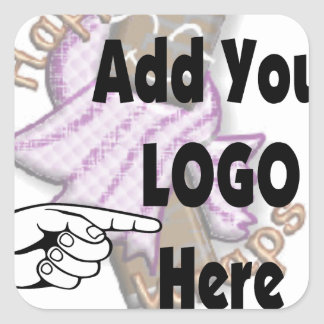 Add Your Company LOGO as Client or Employee Gifts Square Sticker