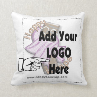 Add Your Corporate Company LOGO Throw Pillow