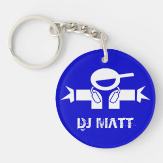 Add your DJ name - Personalized Deejay keychain