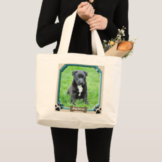 Add your Dog or Pet Photo to Shopping Tote Bag