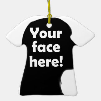 Add Your Face Here Christmas Tree Ornament
