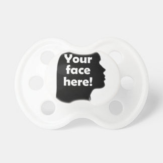 Add Your Face Here Baby Pacifier