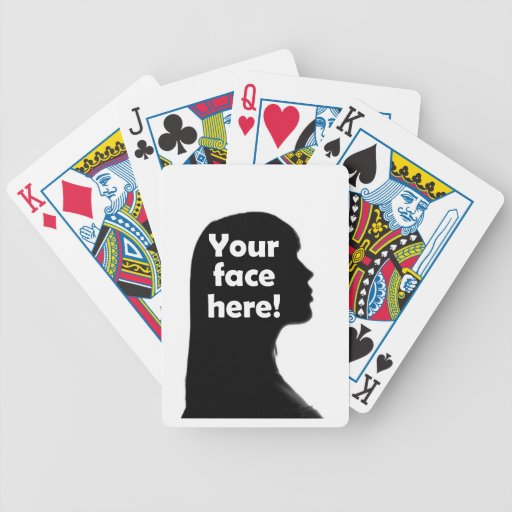 Add Your Face Here Bicycle Playing Cards
