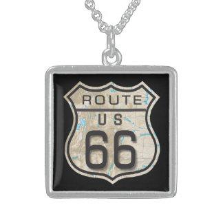 Add your favorite photo / message / logo square pendant necklace