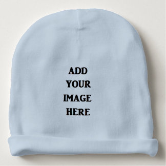 Add your image here Blue Baby Beanie