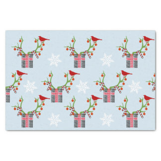 Add Your Image/Logo Reindeer Antlers Christmas Tissue Paper