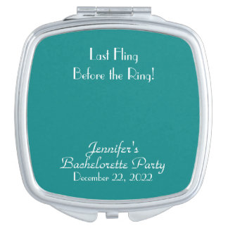 Add Your Image, Text, Turquoise Compact Mirror