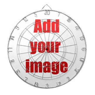Add your image to customize dartboard with darts