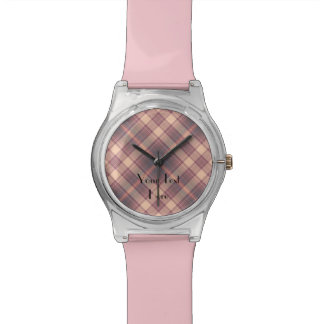 Add Your Image, Your Text, Custom Watch FUN Plaid