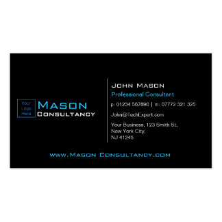 Add Your Logo Black and Blue - Business Card