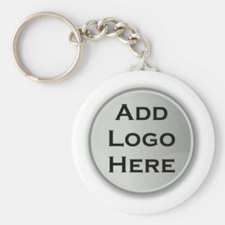 Add Your Logo Corporate Gift Basic Round Button Keychain