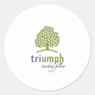Add your logo marketing products custom apparel classic round sticker