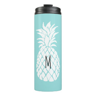 add your monogram personalized pineapple thermal tumbler